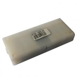Lot de 10 plaquettes réversibles au carbure - 35° KO5 49,5x9x1,5 mm 4 coupes pour bois - 02.2553.4 - Leman
