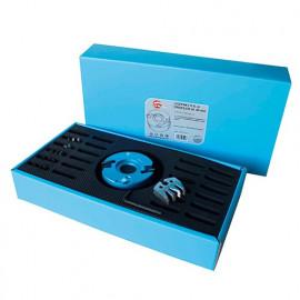 Coffret de porte-outils à profiler D. 100 mm Al. 30 mm Ht. 50 mm et 6 Jeux de fers profilés - 093.50.30.06 - Leman