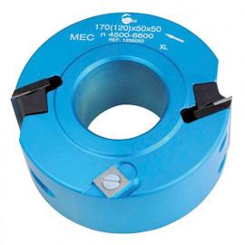 Porte-outils à profiler - Feuillurer D. 120 mm Al. 50 mm Ht. 50 mm Z2 et V2 - 123.50.50 - Leman