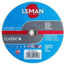 25 disques à tronçonner inox à moyeu plat - D. 125 x Al. 22,23 x Ep. 1,6 mm - 125.16.25 - Leman