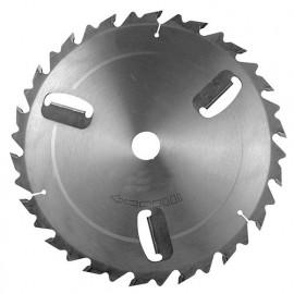 Lame carbure à bois D. 250 x Al. 30 mm. x 18 dents. Avec 3 Racleurs et Anti recul - 215.250.3018 - Leman