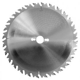 Lame carbure de scie circulaire de débit D. 250 x Al. 30 mm. x 24 dents alt. anti-recul à bois - 222.250.3024 - Leman