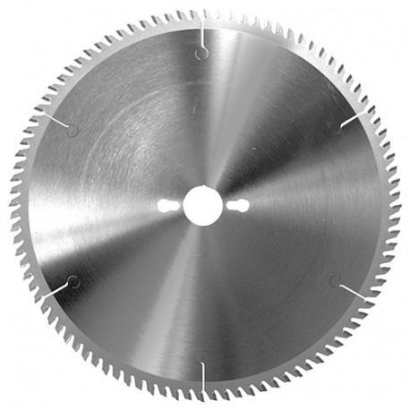 Lame circ. carbure fine à format D. 180 x Al. 30 mm. x 56 dents alt. pour PVC et pléxiglas - 355.180.3056 - Leman
