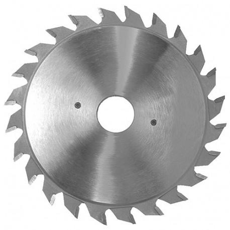 Lame carbure incis. extens. D. 100 X ép. 2.8-3.6 x Al. 22 mm. 2x12 plates pour panneaux - 356.100.22212 - Leman