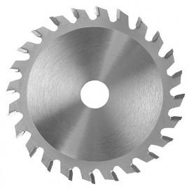Lame carbure incis. conique D. 125 x ép. dents 3,1-4,3 x Al. 20 mm. 24 dents plates pour panneaux - 357.125.2024 - Leman