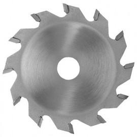 Lame carbure à rainer D. 100 x ép dents 4 mm. x Al. 20 mm. 12 dents. Plate pour bois - 360.100.4012 - Leman