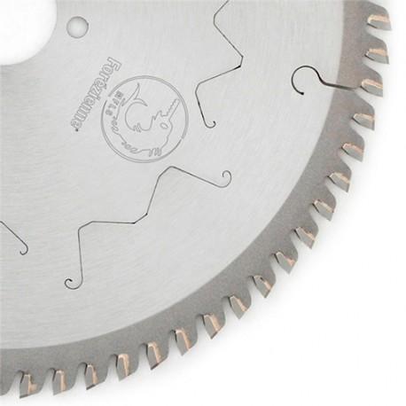 Lame circulaire carbure finition MFLS SILENCE D. 250 x 2.2 / 3.2 x TP 80 x Al. 30 mm TE 2/7/42  2/9/46  2/10/60 - LC2508014M
