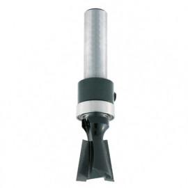 Mèche d' assemblage à queue d' aronde HM + guide supérieur D. 14 mm L.U. 12,7 mm Angle 14° Q. 8 mm - 4368.714.00 - Leman