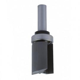 Mèche d' affleureuse droite HM micrograin + guide supérieur D. 28,6 mm L.U. 38,1 mm L.T. 92 mm Q. 12 mm - 4512.729.00 - Leman