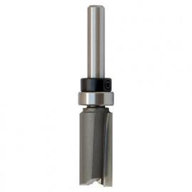 Mèche d' affleureuse droite HM micrograin + guide supérieur D. 12,7 mm L.U. 25,4 mm L.T. 65 mm Q. 8 mm - 5618.713.00 - Leman