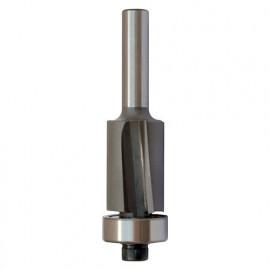 Mèche d' affleureuse biaisée HM micrograin + guide D. 19 mm L.U. 26 mm L.T. 75 mm Q. 8 mm - 5628.700.25 - Leman