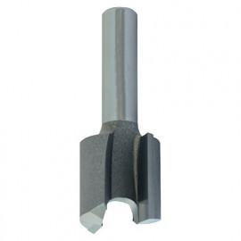 Mèche d' affleureuse droite HM micrograin D. 19 mm L.U. 19 mm L.T. 51 mm Q. 6 mm - 5646.700.00 - Leman