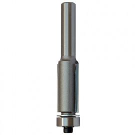 Mèche d' affleureuse droite HM micrograin + guide D. 9,5 mm L.U. 25,4 mm L.T. 69 mm Q. 6 mm - 5676.709.00 - Leman