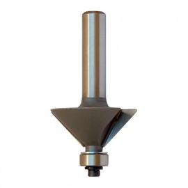 Mèche à chanfreiner HM micrograin Z : 3 + guide D. 20,3 mm L.U. 10 mm L.T. 49 mm Angle 15° Q. 6 mm - 5686.715.00 - Leman