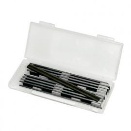 Lot de 10 fers de rabot réversibles KO5 80x5,5x1,1 mm pour bois - 7142.780.10 - Leman