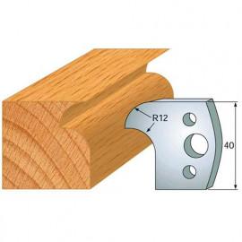 Jeu de 2 fers profilés acier Ht. 40 mm N°005 Congé et 1/4 de rond - 800.005 - Leman