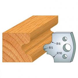 Jeu de 2 fers profilés acier Ht. 40 mm N°012 Congé à gorge - 800.012 - Leman