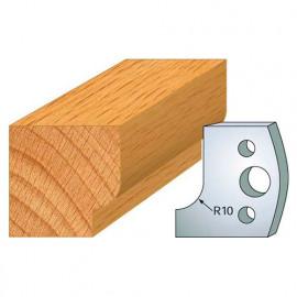 Jeu de 2 fers profilés acier Ht. 40 mm N°013 Congé rayon 10 mm - 800.013 - Leman