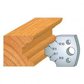Jeu de 2 fers profilés acier Ht. 40 mm N°022 1/4 de rond multiple - 800.022 - Leman