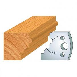 Jeu de 2 fers profilés acier Ht. 40 mm N°024 1/4 de rond et boudin - 800.024 - Leman