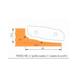 Jeu de 2 plaquettes profil N°2 APF160F2 pour APF160