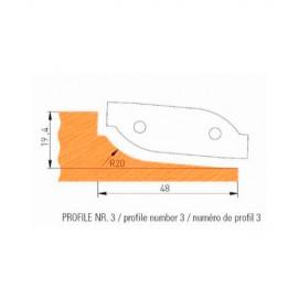 Jeu de 2 plaquettes profil N°3 APF160F3 pour APF160