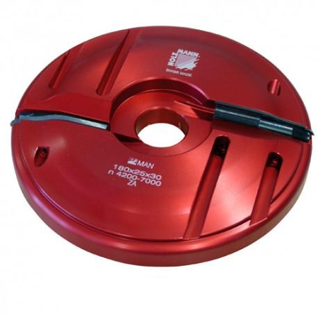 Porte-outil plate bande D. 180 x 25 x Al. 30 mm Z2 APF180 livré avec profil F0
