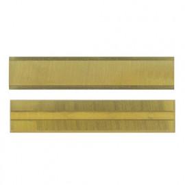 Lot de 10 plaquettes carbure - revêtement titane KO1 50x10x1,5 mm système versofix 4 coupes pour bois - 800.510.01 - Leman