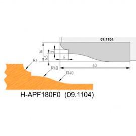 Jeu de 2 plaquettes profil N°0 APF180F0 pour APF180