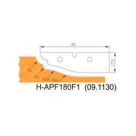Jeu de 2 plaquettes profil N°1 APF180F1 pour APF180