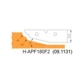 Jeu de 2 plaquettes profil N°2 APF180F2 pour APF180