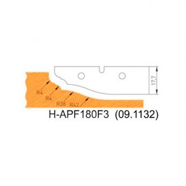 Jeu de 2 plaquettes profil N°3 APF180F3 pour APF180