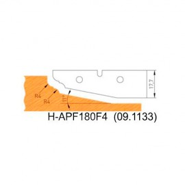 Jeu de 2 plaquettes profil N°4 APF180F4 pour APF180