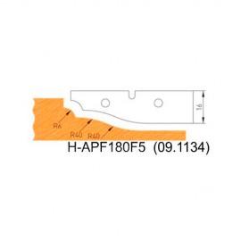 Jeu de 2 plaquettes profil N°5 APF180F5 pour APF180