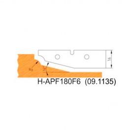 Jeu de 2 plaquettes profil N°6 APF180F6 pour APF180