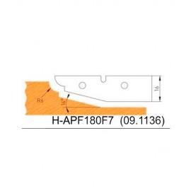 Jeu de 2 plaquettes profil N°7 APF180F7 pour APF180