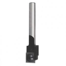 Mèche à rainer à 2 plaquettes réversibles HM D. 15 mm L.U. 20 mm L.T. 70 mm Q. 12 mm - 812.715.00 - Leman