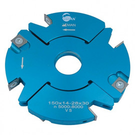 Porte-outils feuillure - rainure - tenon extensible D. 170 mm Al. 30 mm Ep. 20-39 Z4 et V4 - 928.170.30.2039 - Leman