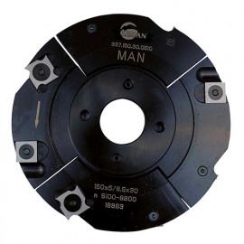 Porte-outils à rainer extensible D. 150 mm Al. 30 mm Ep. 5 mm Al. 9,5 mm Z4 et 4 - 937.150.30.0510 - Leman