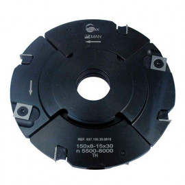 Porte-outils à rainer extensible D. 150 mm Al. 30 mm Ep. 8 mm Al. 15,5 mm Z4 et 4 - 937.150.30.0815 - Leman