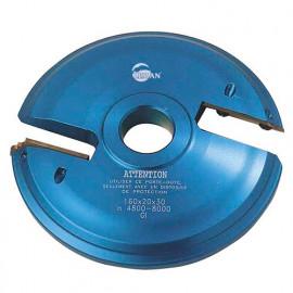 Porte-outils plate bande - travail dessus D. 160 mm Al. 30 mm Z2 profil N°1 - 948.160.30.01 - Leman