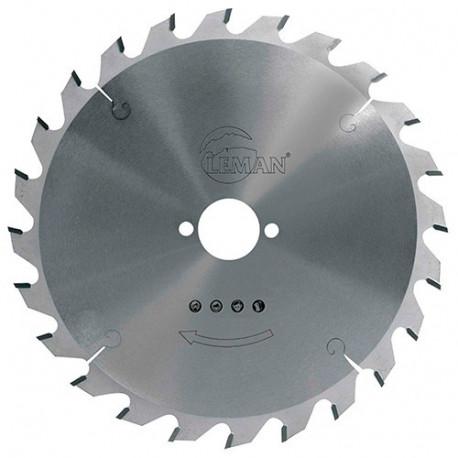 Lame carbure pour portative D. 150 x Al. 30 mm. x 24 dents alt. pour bois - 964.150.3024 - Leman