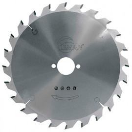 Lame carbure pour portative D. 260 x Al. 30 mm. x 24 dents alt. pour bois - 964.260.3024 - Leman