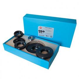 Coffret de 5 Bagues 80-90-100-120-125 et 1 roulement à billes Al. 30 mm - 970.5.000.00.01 - Leman